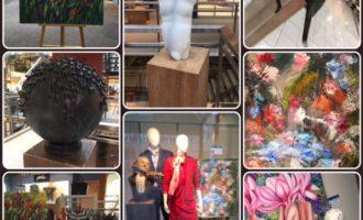 Kunst bij Modecentrum Frans Theelen in Roggel